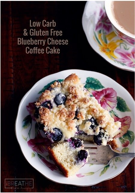 This low carb & gluten free blueberry cheese danish coffee cake has ...