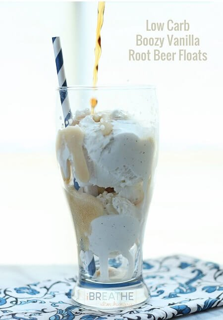 You can make this delicious low carb root beer float with or without the alcohol!