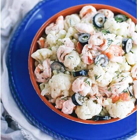 Creamy Shrimp and Cauliflower Salad – Low Carb