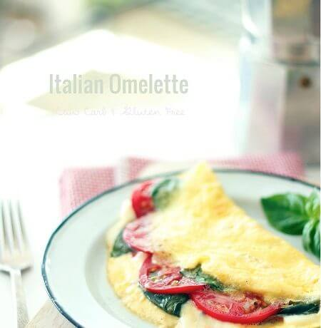 Cheesy Italian Omelette – Low Carb and Gluten Free