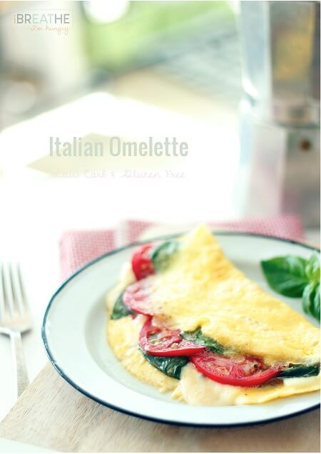 A delicious and easy low carb omelette recipe that will have you looking forward to mornings! Keto and Atkins friendly!