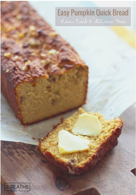 An easy pumpkin quick bread recipe that is not only delicious, but low ...