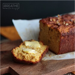 An easy pumpkin quick bread recipe from Mellissa Sevigny at I Breathe Im Hungry that is not only delicious, but low carb, gluten free & Paleo friendly!