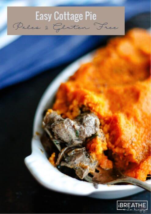 This delicious and easy cottage pie recipe is Paleo and Gluten Free, but can also be made low carb and/or Whole 30 compliant!