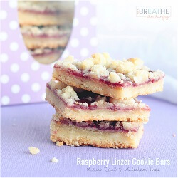 These delicious low carb cookie bars from Mellissa Sevigny of I Breathe Im Hungry have all the flavor and texture of your favorite raspberry linzer cookie without the tedious work! Low carb, egg free, and gluten free