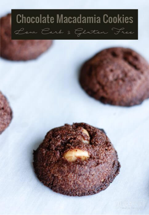 Easy Chocolate Almond Macadamia Cookies - rich and fudgy, keto friendly!