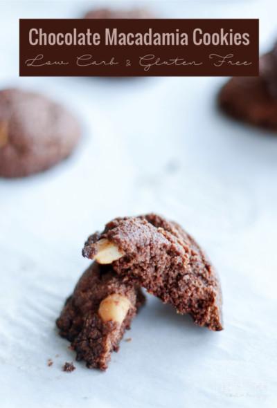 Easy Chocolate Almond Macadamia Cookies - Tastes like the edge of the brownie!