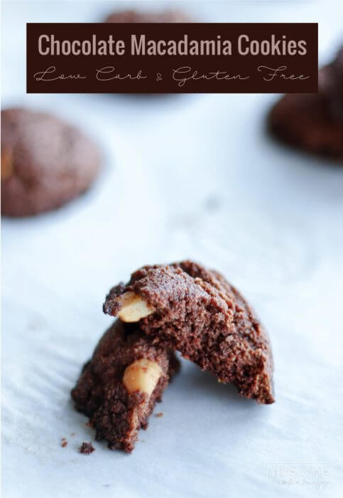 Easy Chocolate Almond Macadamia Cookies - Tastes like the edge of the brownie!