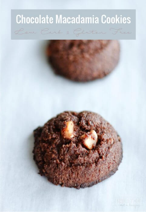 Easy Chocolate Macadamia Nut Cookies - rich and fudgy they are also keto friendly!