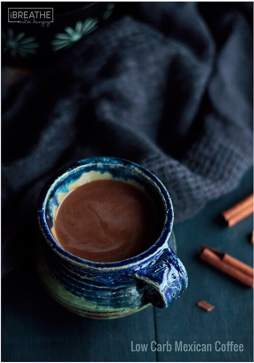 A low carb and sugar free Mexican coffee recipe that is loaded with cinnamon and cocoa!