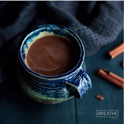 A low carb and sugar free Mexican coffee recipefrom Mellissa Sevigny of I Breathe Im Hungry that is loaded with homey cinnamon and cocoa!