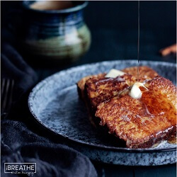 This low carb and gluten free pumpkin bread french toast from Mellissa Sevigny of I Breathe Im Hungry is perfect for a leisurely weekend breakfast or brunch!
