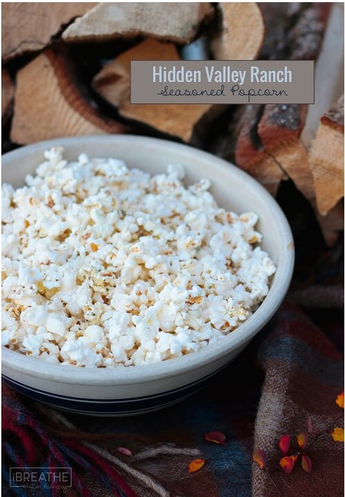 Hidden Valley it with this easy ranch seasoned popcorn!