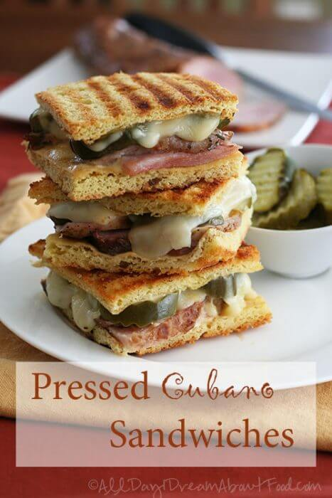 Low Carb Cubano Sandwiches a great way to use up leftover ham