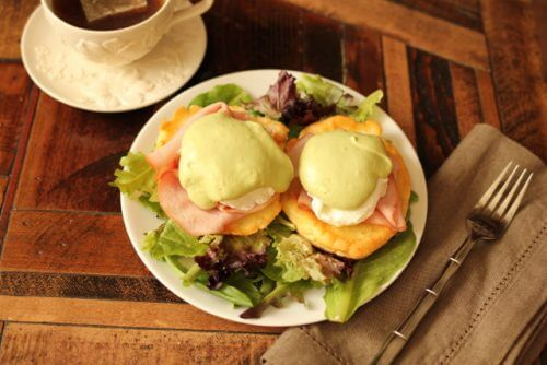 Paleo and Low Carb Eggs Benedict using leftover ham