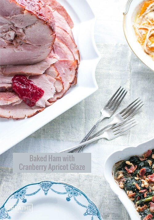 This Low Carb Baked Ham with Cranberry Apricot Glaze is perfect for entertaining!