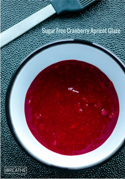 A low carb and sugar free cranberry apricot sauce - delicious with turkey or ham!