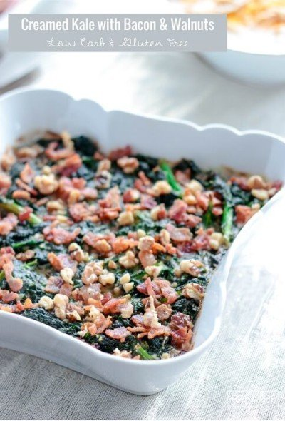 This creamy side dish is my new favorite low carb kale recipe!