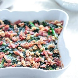 A low carb creamed kale recipe from Mellissa Sevigny of I Breathe Im Hungry