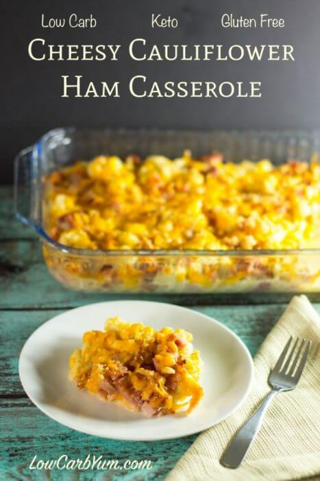 A delicious low carb casserole using leftover ham
