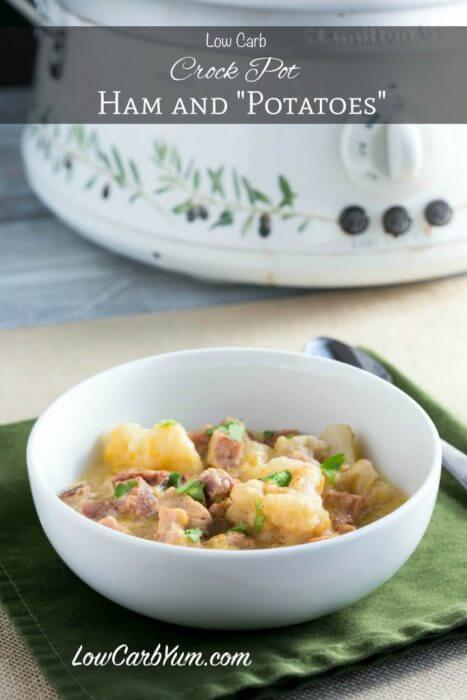Low Carb Cauliflower and Ham Stew a great way to use up leftover ham