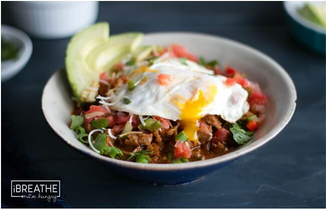 This low carb breakfast chili is made with breakfast sausage - perfect for Brinner!