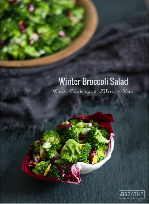 This low carb broccoli salad is loaded with vitamin C and lots of citrus flavor!