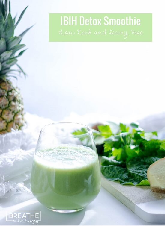 A low carb and dairy free green smoothie recipe that is delicious and refreshing!