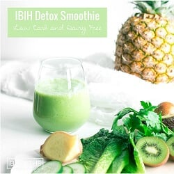 A low carb green smoothie recipe from Mellissa Sevigny of I Breathe Im Hungry