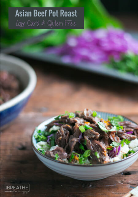 This delicious Paleo Asian Pot Roast tastes amazing over cauliflower rice!