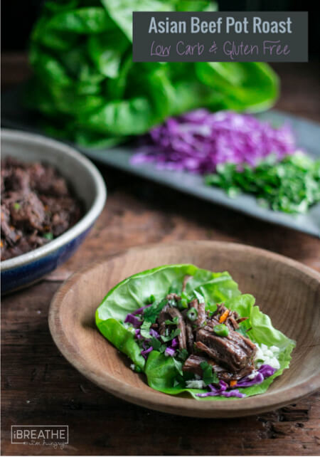 This low carb Asian Pot Roast is awesome served in lettuce leaves Korean BBQ style!!!