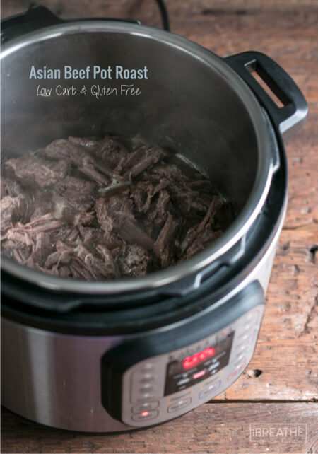 This delicious Asian Pot roast can be made in the Instant Pot in less than an hour!