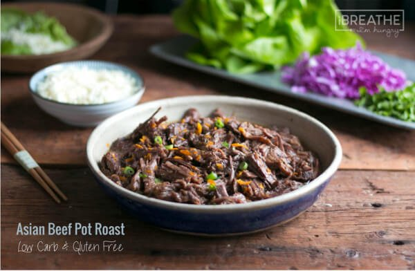 This delicious low carb Asian beef pot roast recipe can be made in the Instant Pot or slow cooker!