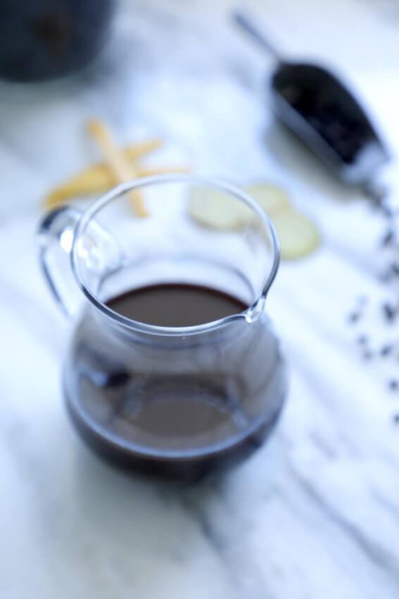 Keto Elderberry Syrup in a glass jar