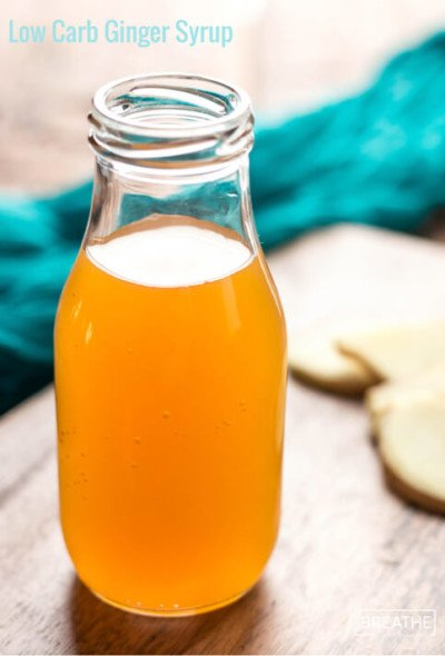 A versatile low carb ginger syrup that can be used in cocktails, teas, soups, curries and even baked goods!