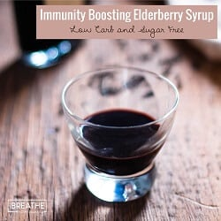 A low carb elderberry syrup recipe from Mellissa Sevigny of I Breathe Im Hungry