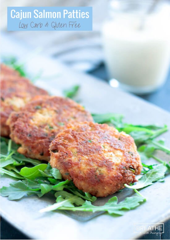 These fantastic Cajun Salmon Patties are low carb, gluten free and keto / Atkins friendly!! Not to mention DELICIOUS!