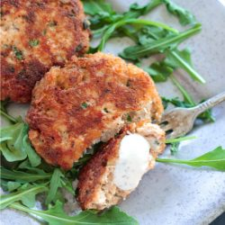 These gluten free cajun salmon patties are also keto and Atkins friendly!