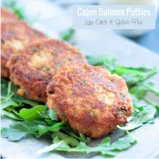 Cajun Salmon Patties - Low Carb & Gluten Free