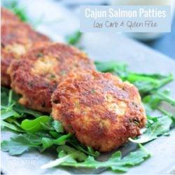 Low Carb Cajun Salmon Patties I Breathe I M Hungry