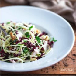 Zucchini Noodles Salad with Parmesan & Walnuts – Low Carb