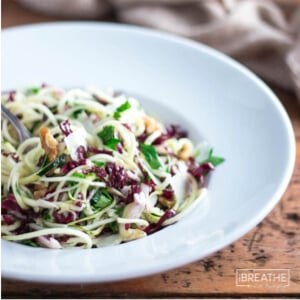 Zucchini Noodles Salad with Parmesan & Walnuts - Low Carb | I Breathe I'm Hungry
