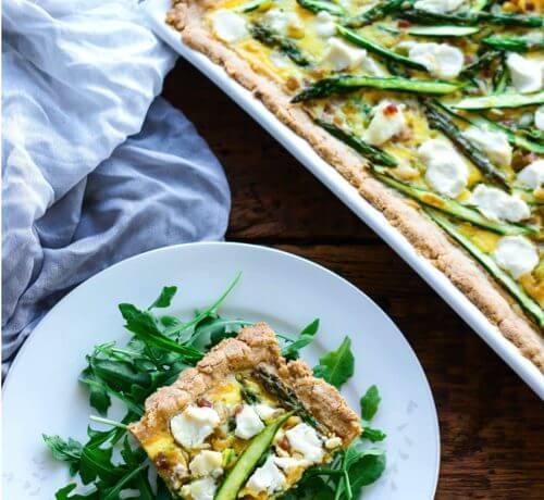 Asparagus, Leek & Pancetta Tart – Low Carb & Gluten Free