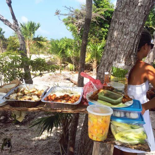Lunch on the beach Belizean style