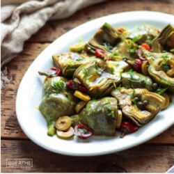Marinated Baby Artichokes Antipasto Salad – Low Carb