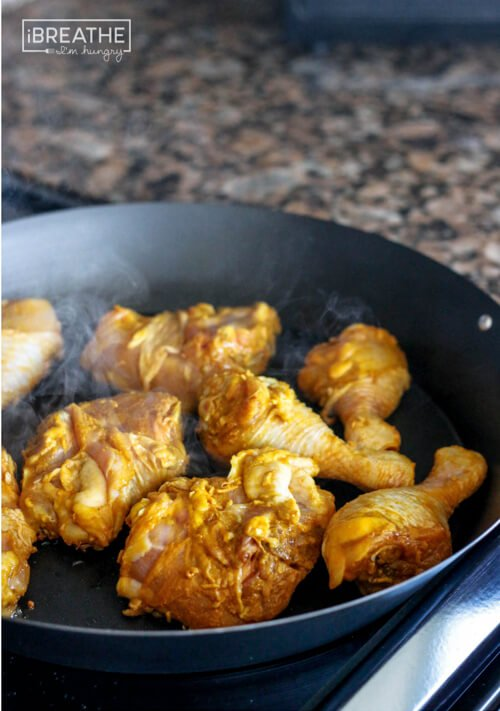 This delicious curried chicken recipe is easy to make and Whole 30 approved!!!