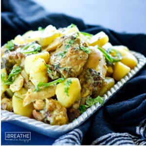 A Whole 30 curried chicken recipe from Mellissa Sevigny of I Breathe Im Hungry