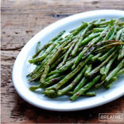 A low carb green bean recipe from Mellissa Sevigny of I Breathe Im Hungry