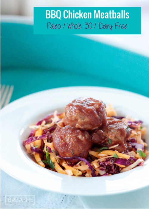 These are the best Whole 30 BBQ Chicken Meatballs out there! Healthy ...