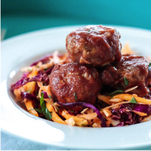 BBQ Chicken Meatballs - Paleo & Whole 30 | I Breathe I'm Hungry